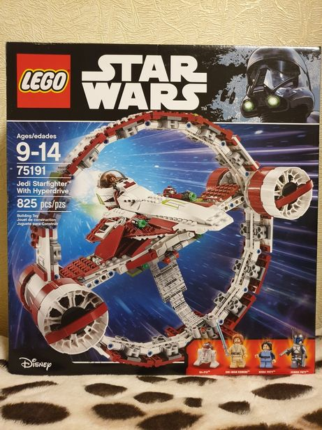 Lego Star Wars Jedi Starfighter with Hyperdrive Booster Ring 75191