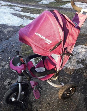 Детский трехколесный велосипед-коляска
