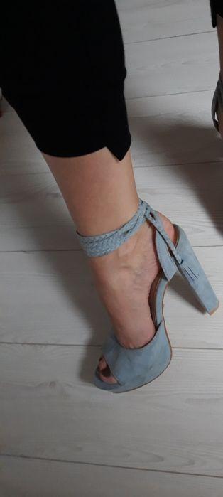 Mega buciki wiązane Blue ,ala zamszyk 39 Iława - image 1
