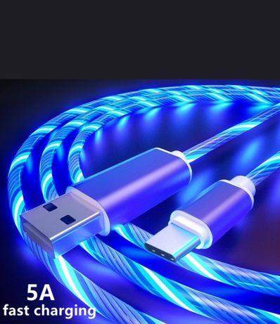 Продам шнур для зарядки смартфона micro USB 2м. З підсвіткою
