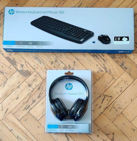 Słuchawki HP 500 + klawiatura i mysz HP 300