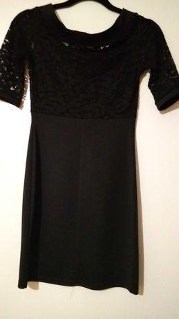 Платье женское, чёрного цвета,на груди только гипюр