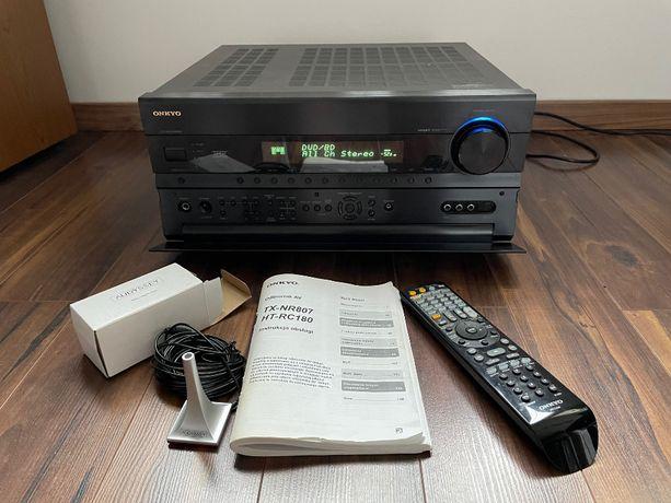 amplituner sieciowy Onkyo TX-NR807 cały zestaw, HDMI, DLNA, Radio Net
