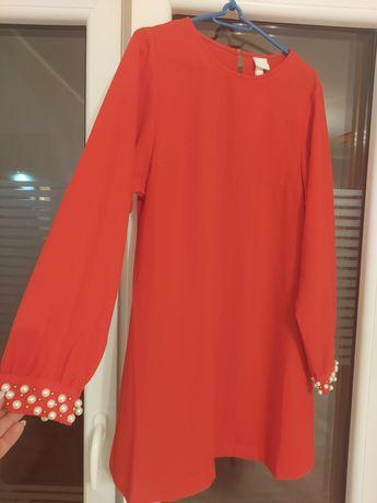 Sukienka trapezowa red z H&M 42