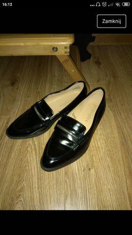 Oxfordy, półbuty, czarne eleganckie