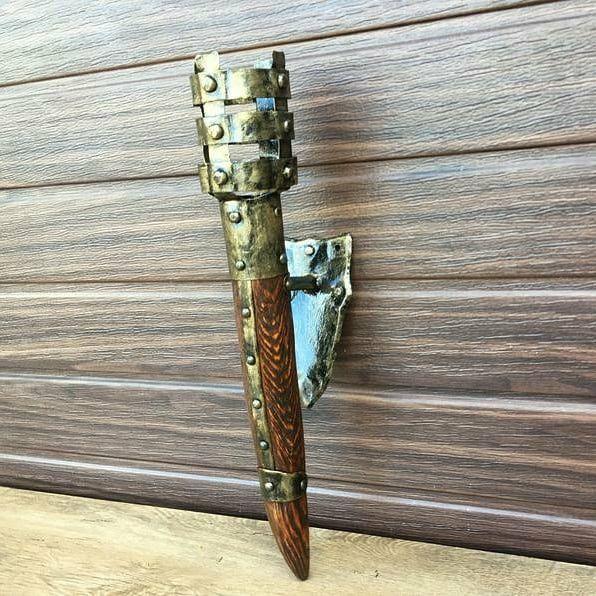 Факел бра люстра под старину кованый Возрождения - изображение 1