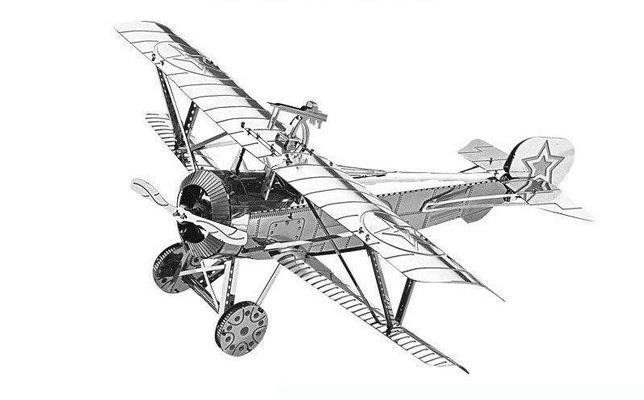 Металлический конструктор Metal earth, 3D модель, самолёт, подарок