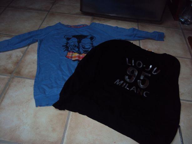 Dwie bluzy niebieska house i czarna l dwie 35 zł