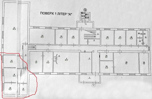 Сдаем 3 кабинета 58 м2 для большого коллектива Святошино ул Рыкова