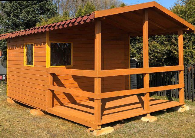 Domek ogrodowy drewniany letniskowy do ogrodu Altana ogrodowa 3x5