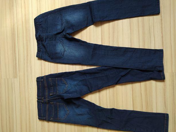 Dżinsy legginsy dżinsowe 134 spodnie jegginsy
