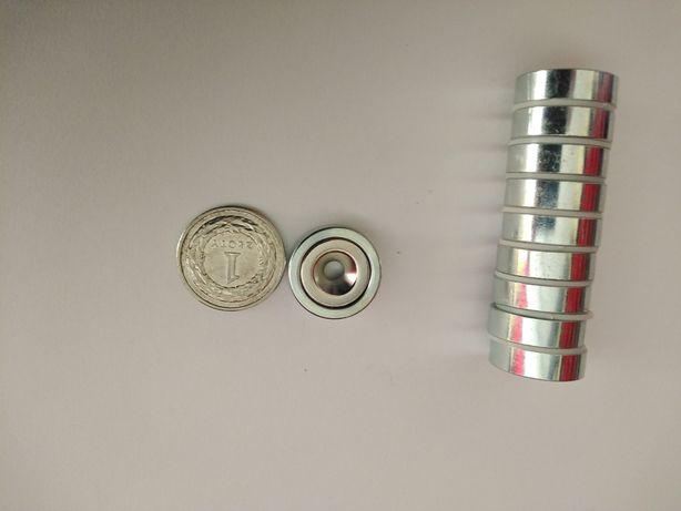 Magnes neodymowy pod wkręt zestaw 10 szt hm-20