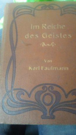 KSIĄŻKA Z 1894 im reiche des geistes von karl faulmann 1894