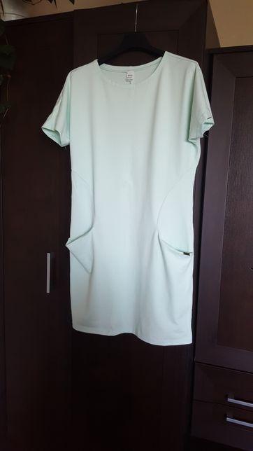 Dresowa sukienka z kieszeniami M vubu NOWA