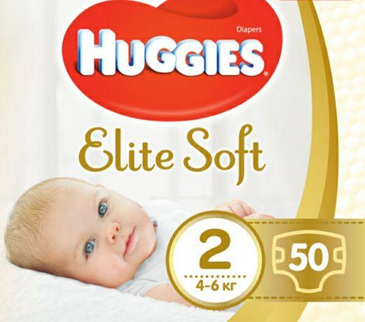 Подгузники Huggies elite soft памперсы 50 шт в уп. хаггис