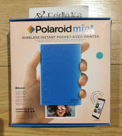 Impressora fotográfica portátil Polaroid Mint (azul) - NOVA/SELADA