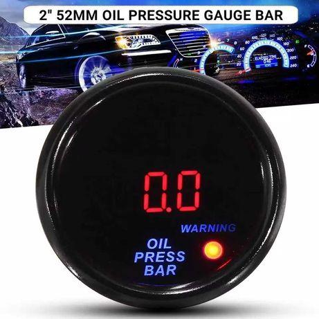 Цифровой датчик давления масла/манометр 0-10 бар/52мм/М10*1мм