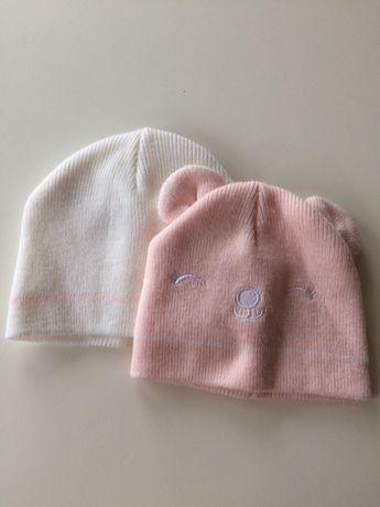 Zestaw czapki zimowe primark 0-6 m