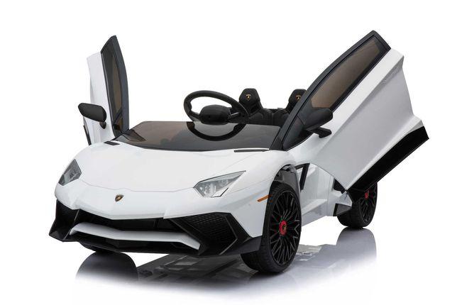 LAMBORGHINI AVENTADOR XL Samochód Auto na akumulator EVA Pilot Skóra
