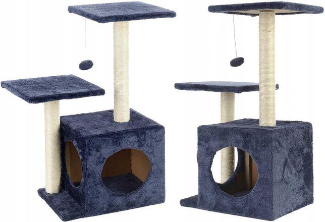 Drapak, legowisko dla kota z budką 4 poziomy