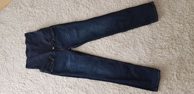 Spodnie dżinsy ciążowe H&M Mama 40