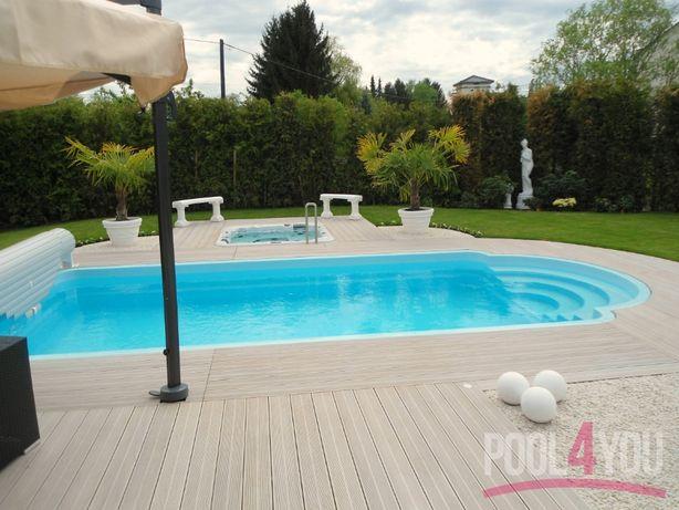Basen ogrodowy poliestrowy gotowy baseny 5,3x3,2 PRODUCENT