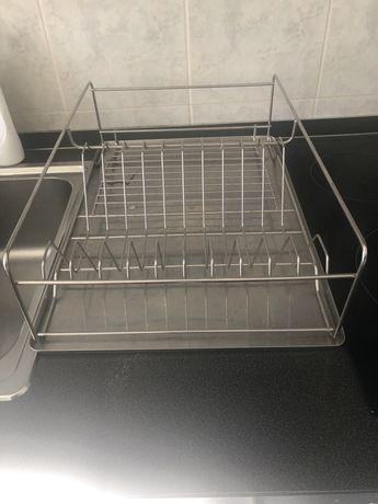 Guarda louca na bancada da cozinha como  novo  aluminio