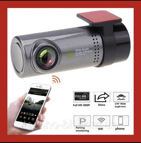 Автомобильный видеорегистратор  Full HD c углом обзора 170° и WiFi