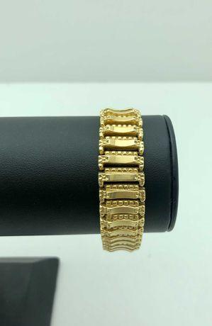 Złota przepiękna bransoletka 32,48g 750 LOM95