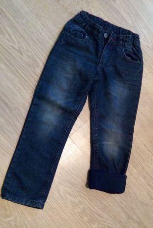 Spodnie ocieplone jeans granat r.122 PEPPERS UD008