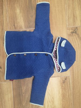 Ted baker bluza 74 niebieska z kapturem