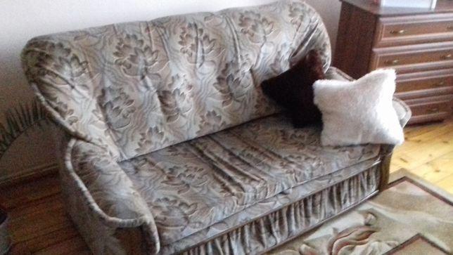 zestaw wypoczynkowy, dwie sofy rozkładane i fotel