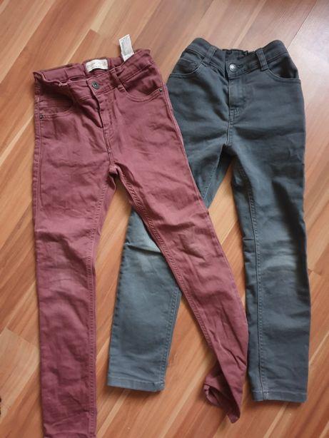 2 pary spodni jeansy zara i f&f