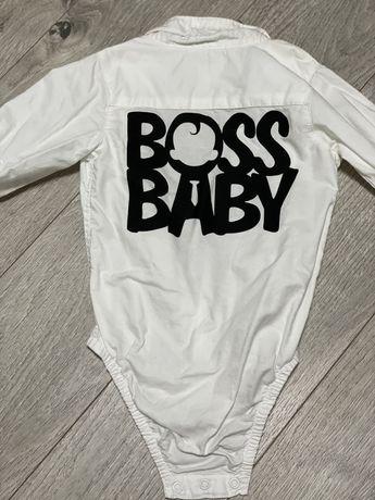Рубашка на годик мальчику baby boss