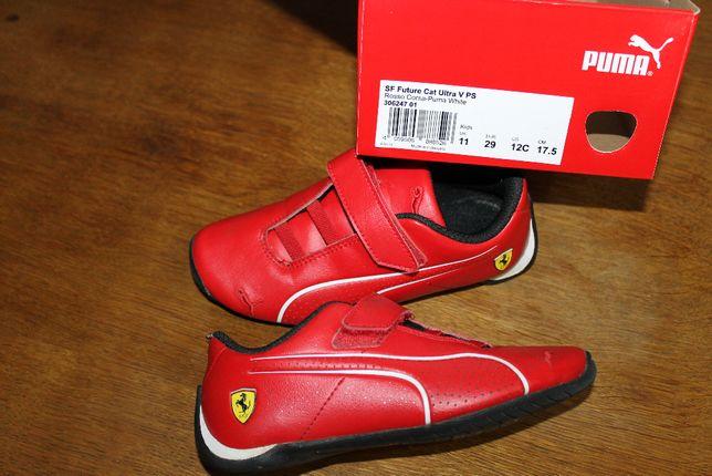Buty dziecięce czerwone Puma Ferrari jak nowe!