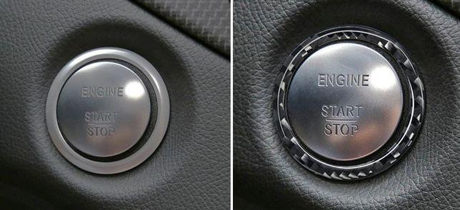 Anel Fibra Carbono p/Ignição Mercedes