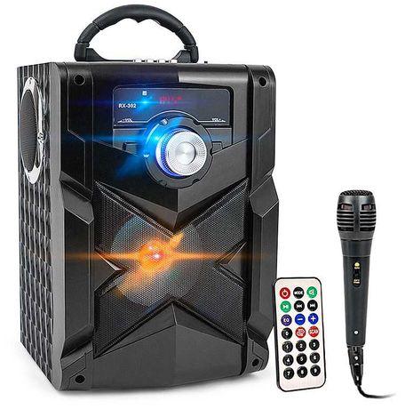 GŁOŚNIK bluetooth BOOMBOX KARAOKE + mikrofon w zestawie