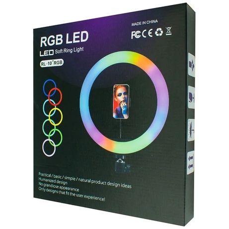 Кільцева LED лампа RGB MJ-26 200 діодів 26см Black