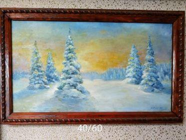 """картина""""Зимний лес"""""""