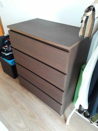 Cómoda IKEA MALM castanha, de 4 gavetas (perfeito estado!)