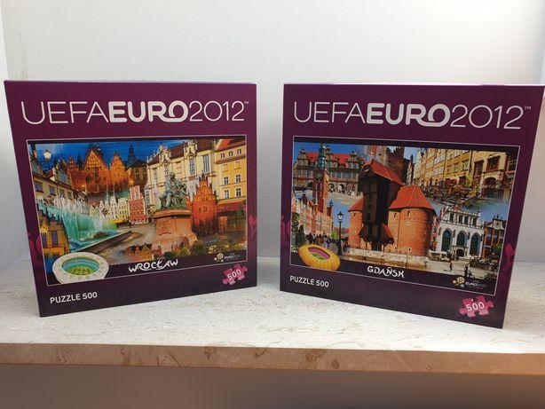 Puzzle 500 elementów euro 2012 Wrocław i Gdańsk