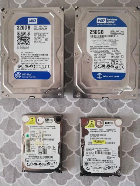 Dyski twarde dyak 80 GB, 320 GB, 250 GB