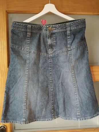 Ciemna dżinsowa spódnica H&M vintage