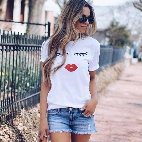 Модная женская футболка на лето не дорого
