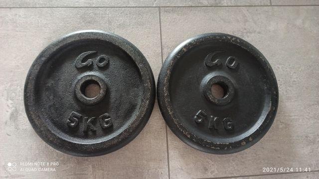 Obciążenie żeliwne 2x5kg