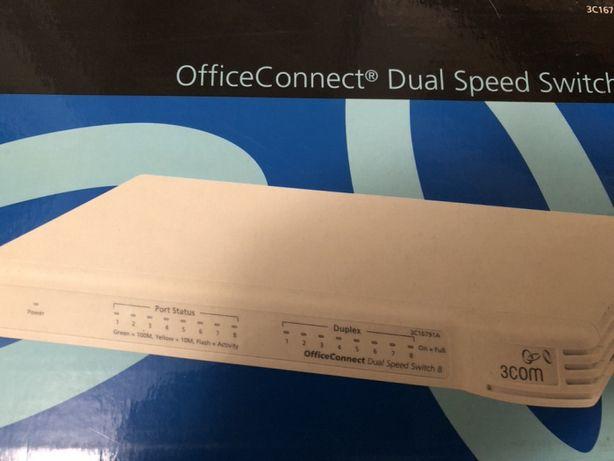 Switch de 8 portas dual speed 10/100
