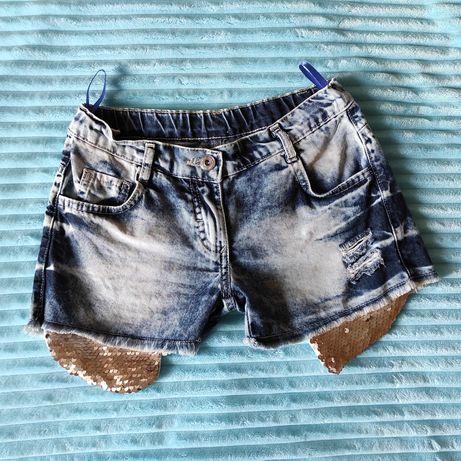 Шорты джинсовые б/у для девочки рост 128 см