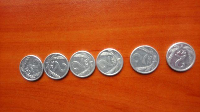 Moneta 2 zł 1989 -6 szt