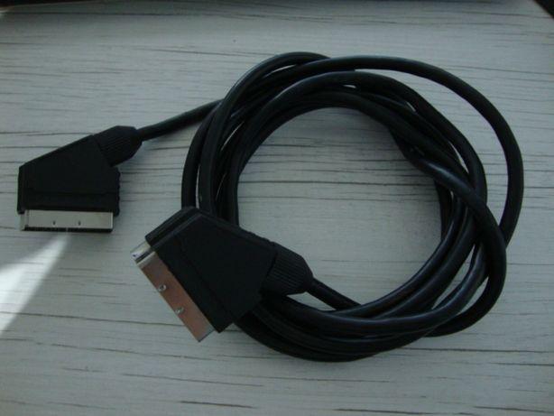 Przewód kabel SCART - SCART długość 3 metry.