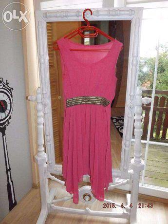 Sukienka różowa , amarantowa na wesele